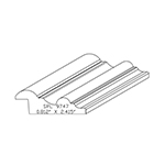"0.812"" x 2.415"" Custom Cherry Accessory Moulding - SPL9747"