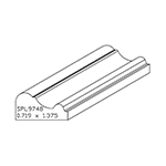 "0.719"" x 1-3/8"" Custom Cherry Accessory Moulding - SPL9748"