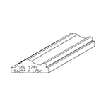 "5/8"" x 1-3/4"" Custom Cherry Accessory Moulding - SPL9749"