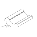 "1-3/8"" x 2"" Custom Cherry Accessory Moulding - SPL9751"