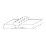 "1-1/4"" x 5-1/2"" Custom Cherry Accessory Moulding - SPL9752"