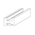 "1.200"" x 1-5/8"" Cherry Custom Miscellaneous Moulding - SPL9779"