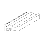 "0.758"" x 1-5/8"" Cherry Custom Miscellaneous Moulding - SPL9780"