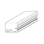 "1.255"" x 1-5/8"" Cherry Custom Miscellaneous Moulding - SPL9782"
