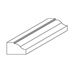 "5/8"" x 1"" Cherry Custom Miscellaneous Moulding - SPL9784"