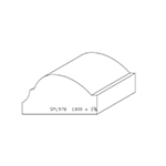 "1.800"" x 3-3/8"" Cherry Custom Accessory Moulding - SPL978"