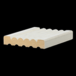 "5/8"" x 3-3/8"" MDF Primed Beaded / Fluted Casing - MDF338"