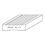 "3/4"" x 3"" Quarter Sawn White Oak Custom Casing - SPL1011"