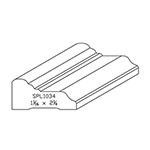 "1-1/16"" x 2-1/4"" Quarter Sawn White Oak Custom Casing - SPL1034"