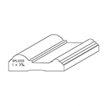 "1.020"" x 3.450"" Quarter Sawn White Oak Custom Casing - SPL1053"