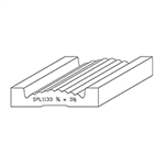 "3/4"" x 3-1/2"" Quarter Sawn White Oak Custom Casing - SPL1133"