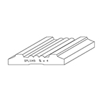 "3/4"" x 4"" Quarter Sawn White Oak Custom Casing - SPL1145"