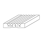"5/8"" x 3-1/8"" Quarter Sawn White Oak Custom Casing - SPL1146"