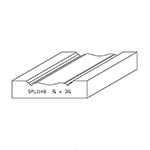 "3/4"" x 3-1/4"" Quarter Sawn White Oak Custom Casing - SPL1148"