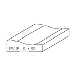 "3/4"" x 2-1/4"" Quarter Sawn White Oak Custom Casing - SPL118"