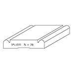 "3/4"" x 3-1/2"" Cherry Custom Casing - SPL1220"