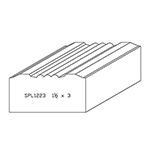 "1-1/2"" x 3"" Cherry Custom Casing - SPL1223"
