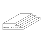 "3/4"" x 2-1/2"" Quarter Sawn White Oak Custom Casing - SPL128"