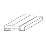 "0.650"" x 2-7/16"" Quarter Sawn White Oak Custom Casing - SPL132"