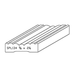 "5/8"" x 2-1/4"" Quarter Sawn White Oak Custom Casing - SPL134"