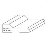 "1-1/8"" x 3-11/16"" Quarter Sawn White Oak Custom Casing - SPL138"