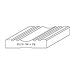 "0.780"" x 3-7/8"" Quarter Sawn White Oak Custom Casing - SPL170"
