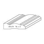 "3/4"" x 3"" Quarter Sawn White Oak Custom Casing - SPL174"