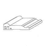 "0.850"" x 3-1/2"" Quarter Sawn White Oak Custom Casing - SPL192"