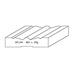 "0.800"" x 3-11/16"" Quarter Sawn White Oak Custom Casing - SPL194"