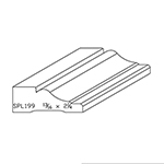 "13/16"" x 2-1/4"" Quarter Sawn White Oak Custom Casing - SPL199"