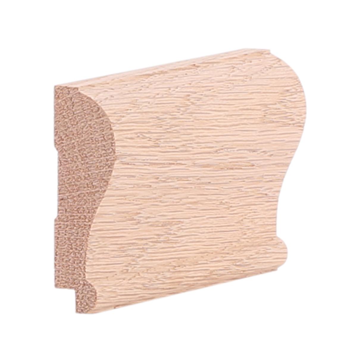 """3/4"""" X 2-3/8"""" Red Oak Modern Chair Rail W/ Rabbet"""