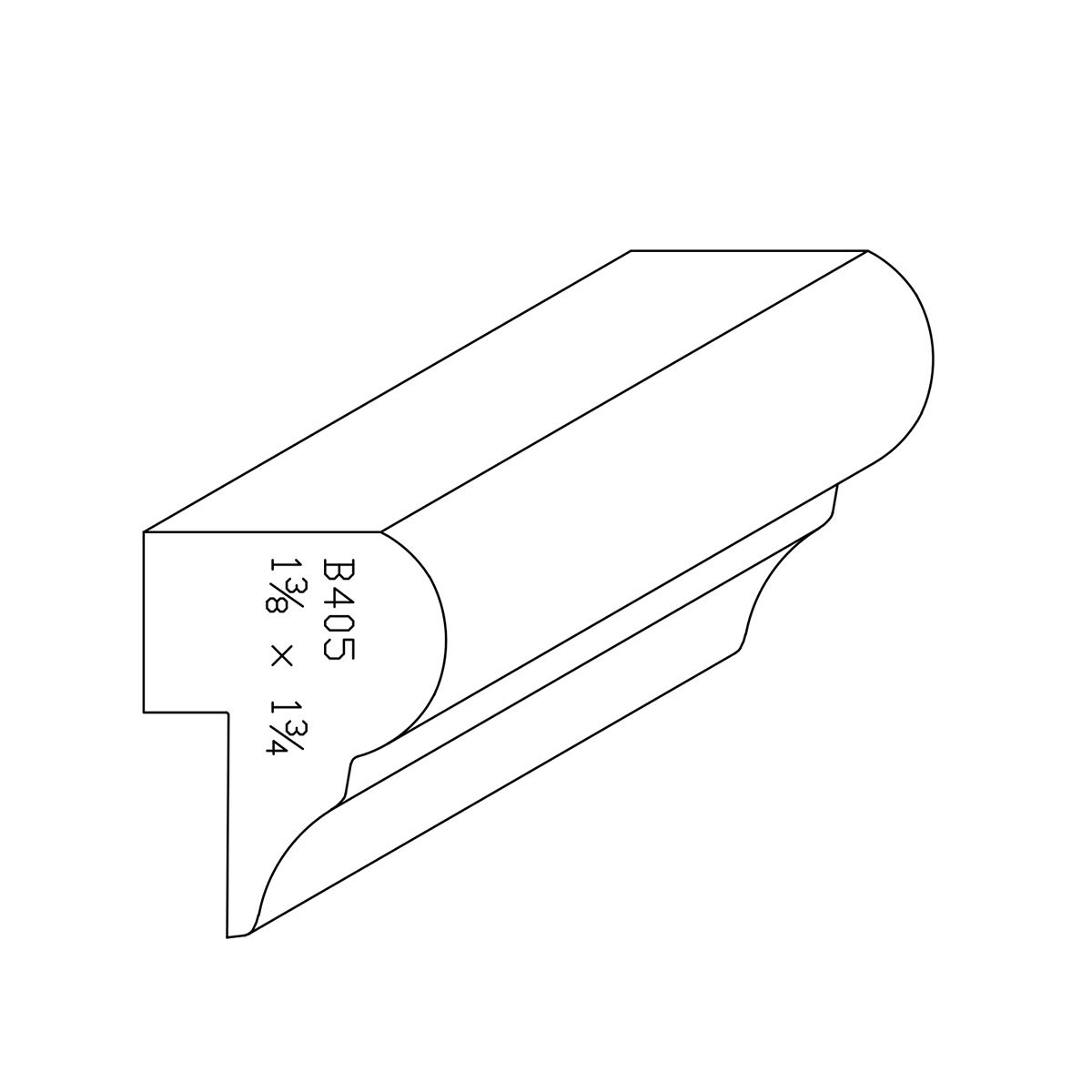 """1-3/8"""" X 1-3/4"""" Clear Eastern White Pine Chair Rail"""