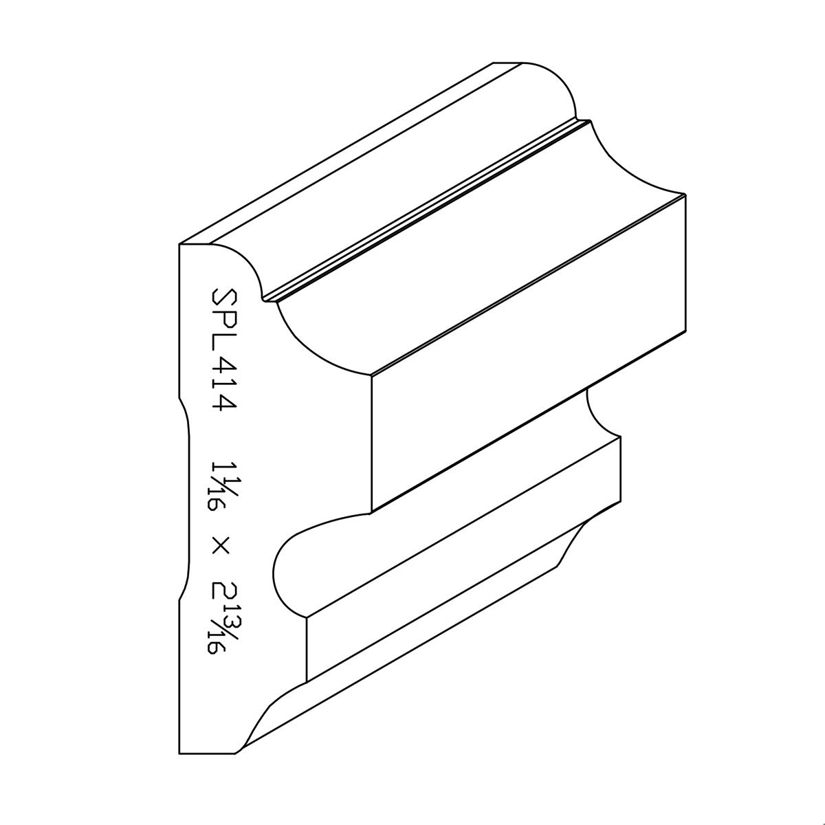 """1-1/16"""" X 2-13/16"""" Poplar Custom Chair Rail"""