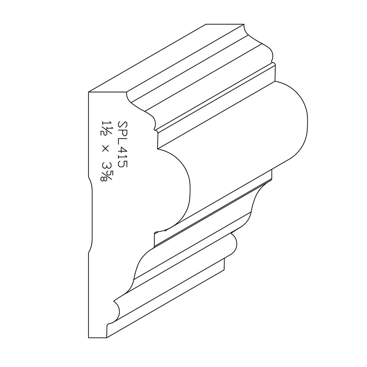 """1-1/2"""" X 3-5/8"""" Poplar Custom Chair Rail"""