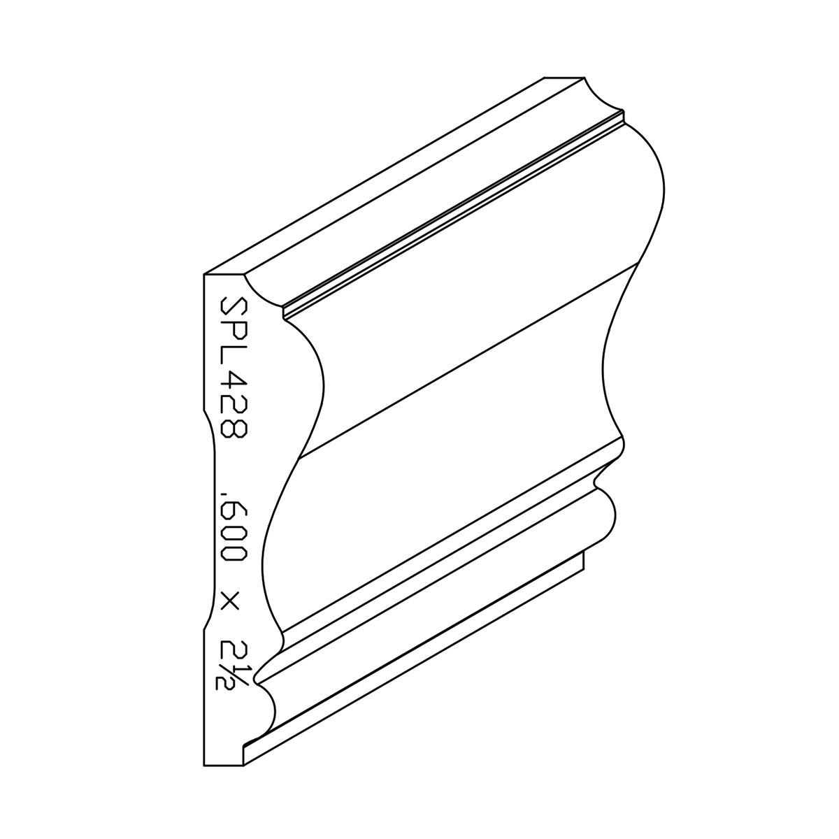"""0.600"""" X 2-1/2"""" Finger Jointed Primed Poplar Custom Chair"""