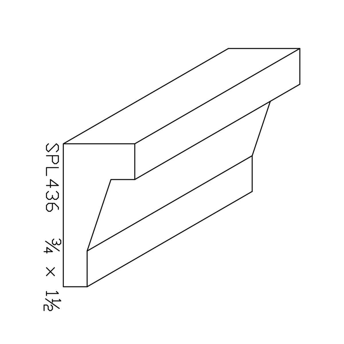 """3/4"""" X 1-1/2"""" Poplar Custom Chair Rail"""