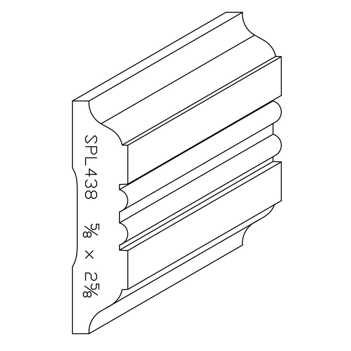 """5/8"""" X 2-5/8"""" Poplar Custom Chair Rail"""