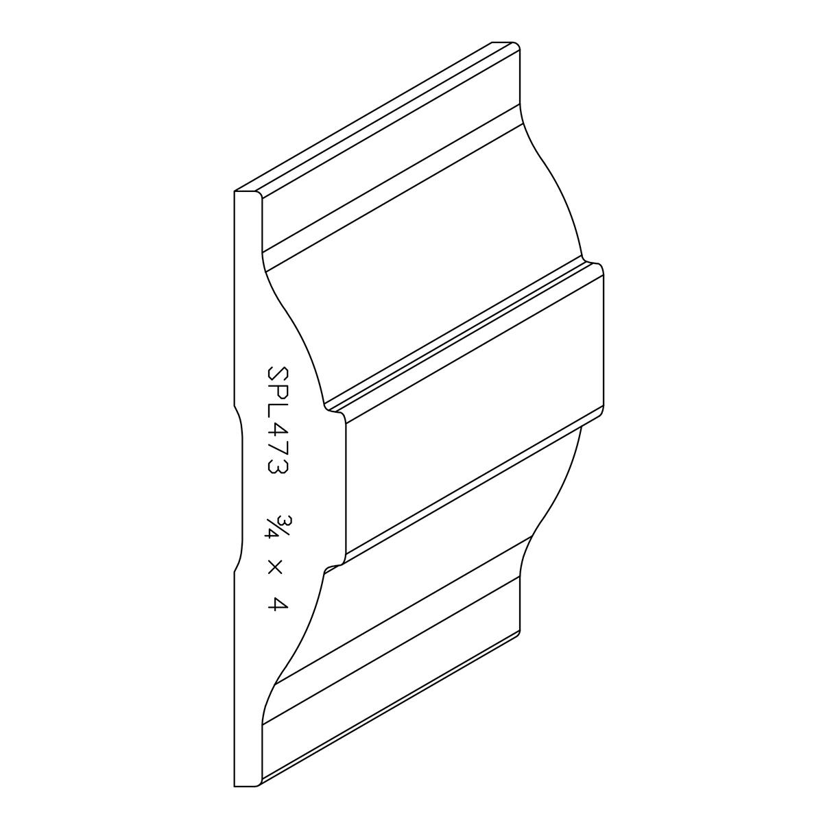 """3/4"""" X 4"""" White Oak Custom Chair Rail"""