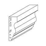 "11/16"" x 2"" Poplar Custom Chair Rail - SPL425"