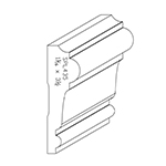"1-1/16"" x 3-1/2"" Poplar Custom Chair Rail - SPL435"