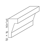 "3/4"" x 1-1/2"" Poplar Custom Chair Rail - SPL436"