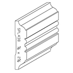 "5/8"" x 2-5/8"" Poplar Custom Chair Rail - SPL438"