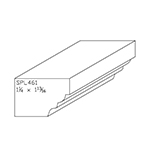 "1-1/4"" x 1-13/16"" Poplar Custom Chair Rail - SPL461"