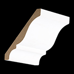 "5/8"" x 4-5/8"" MDF Primed Crown Moulding - MDF47"