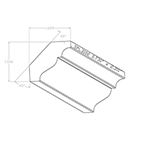 "0.730"" x 2.301"" Hard Maple Custom Crown Moulding - SPL3102"