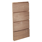 "3/4"" x 6-3/4"" Walnut Ship Lap Interior Siding - B612"
