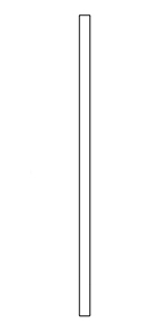 "BB5060 Hickory 1-1/4"" Contemporary Baluster"