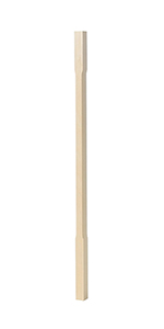 "BBC5060 Poplar 1-1/4"" Contemporary Chamfered Baluster"