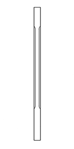 "BBC5360 White Oak 1-3/4"" Contemporary Chamfered Baluster"