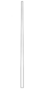 "LJ5040 Cherry 1-1/8"" Full Taper Top Baluster"